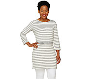 Liz Claiborne New York Striped Tunic w/Knotted Waist Belt Detail - A261243