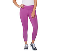 cee bee CHERYL BURKE Crop Pants with Mesh Inserts - A278043