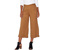 Lisa Rinna Collection Faux Suede Culottes with Zipper Detail - A278943