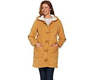 Denim & Co. Long Sleeve Toggle Jacket with Hood - A285943