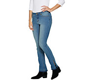 G.I.L.I. Released Hem Side Slit Petite Jeans - A297943