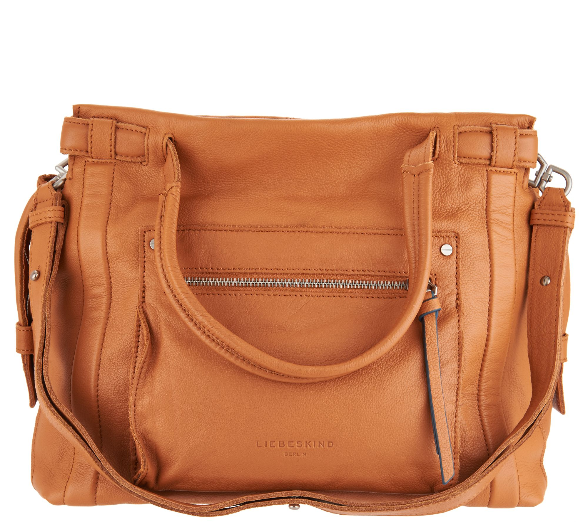 f847fabaa5450 Liebeskind Sporty Vintage Leather Satchel -Virginia - Page 1 — QVC.com