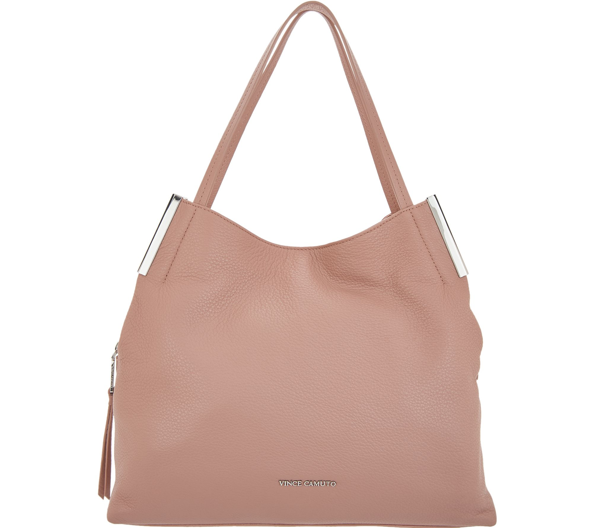 3ae22cde693 Vince Camuto Leather Tote - Tina - Page 1 — QVC.com