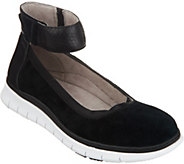Vionic Suede Ankle-Strap Slip-On Shoes - Camile - A305643