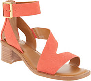 Franco Sarto Leather Block Heel Sandals - Lorelia - A306943