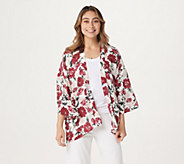 Laurie Felt Open Front Printed Kimono - A309543