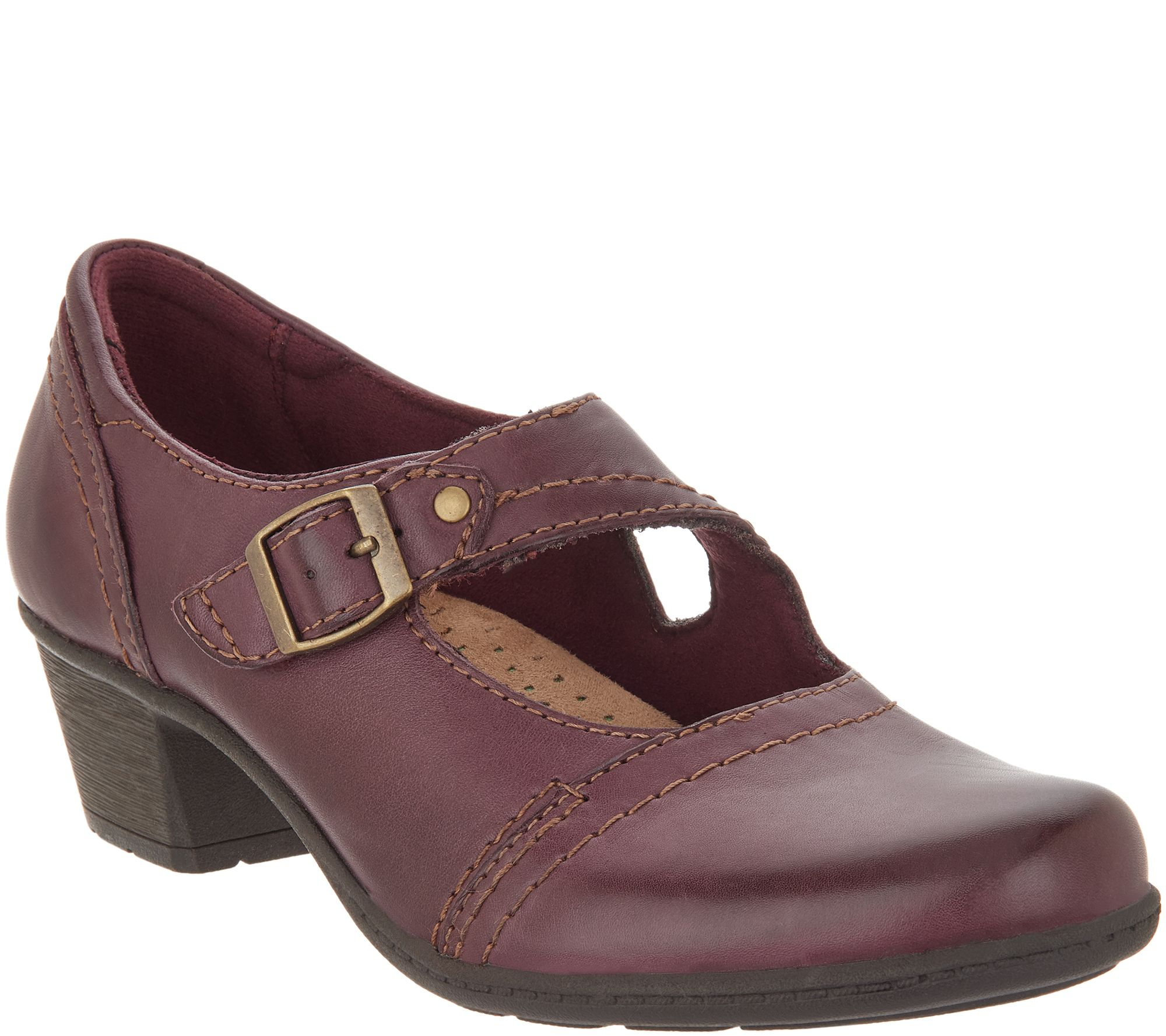 2398bce964962 Earth Origins Leather Mary Janes with Buckle - Meredith - Page 1 — QVC.com