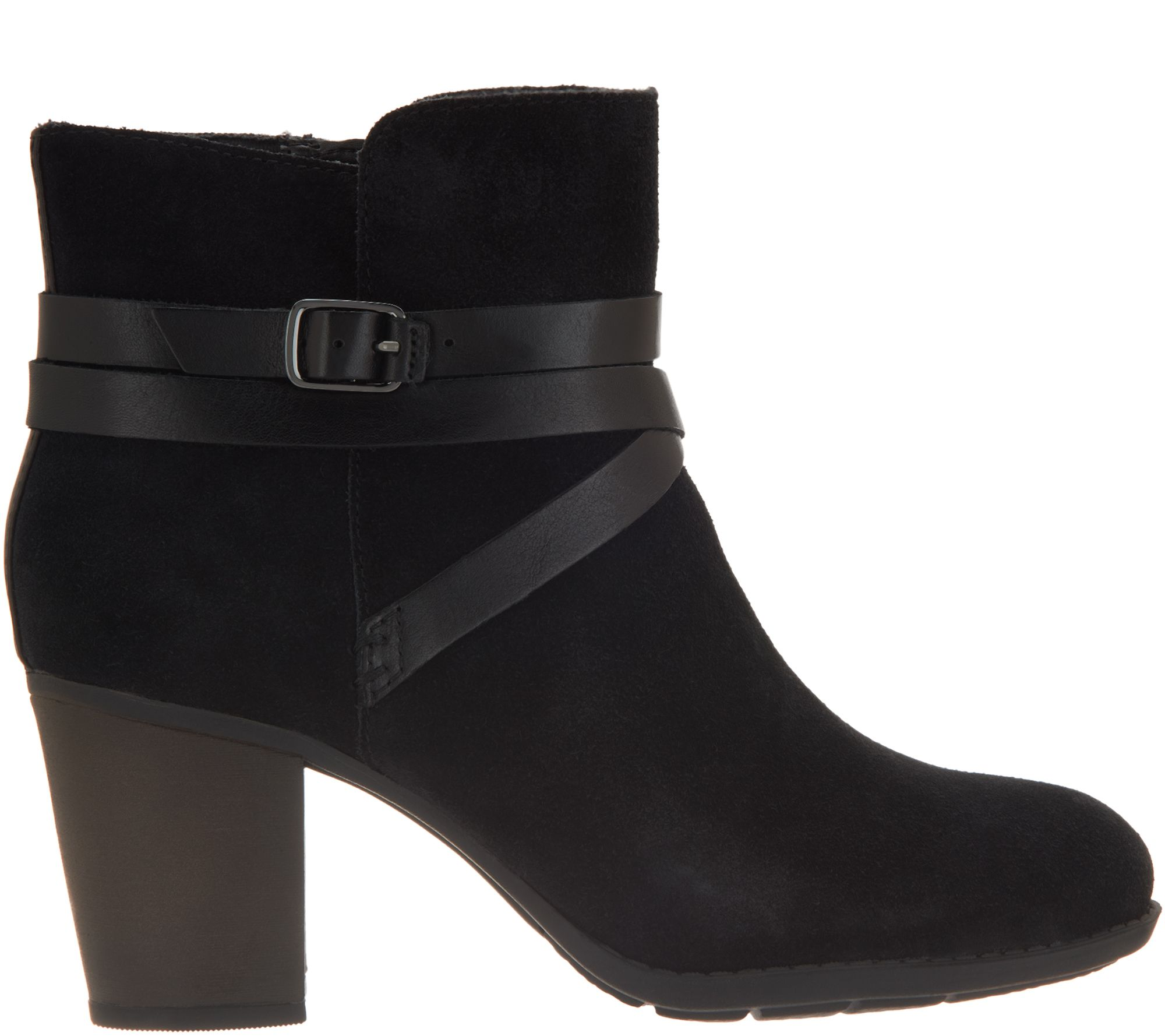 d756baffe60 Clarks Collection Suede Ankle Boots Enfield Coco — QVC.com