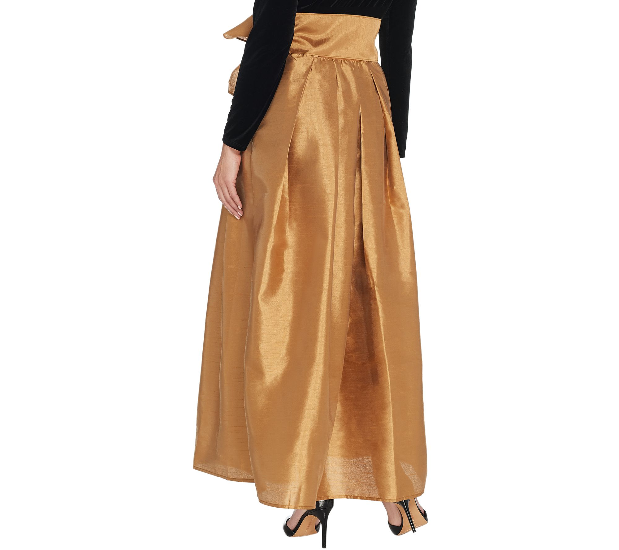 eaf5908d3bfe Joan Rivers Regular Length Faux Dupioni Maxi Skirt - Page 1 — QVC.com