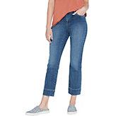 LOGO by Lori Goldstein Regular Straight-Leg Ankle Jean - A345543