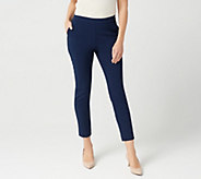 Susan Graver Petite Ultra Stretch Pants with Side Seam Trim - A347243