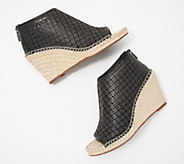 Vince Camuto Perforated Leather Peep-Toe Wedges - Lereena - A353443