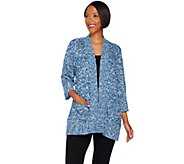 Joan Rivers Popcorn Knit Cardigan with Pockets - A268144