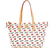 Dooney & Bourke NCAA University of Nebraska Zip Top Shopper - A283244