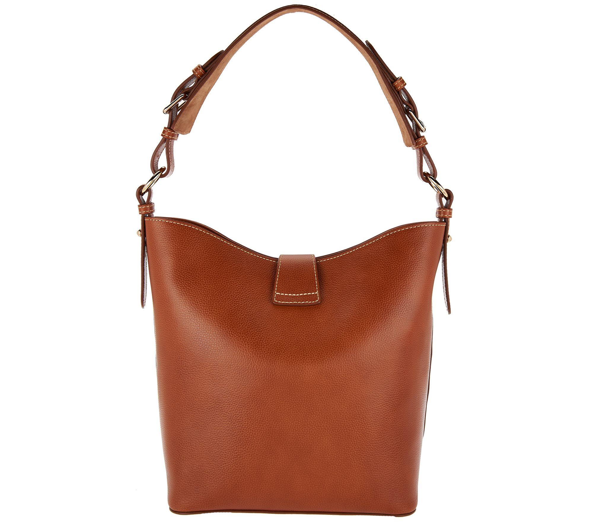 As Is Dooney Bourke Lock Toscana Leather Shoulder Bag Lily Page 1 Qvc