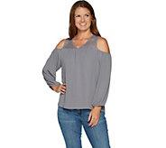 Laurie Felt Lace Cold Shoulder Blouse - A294744