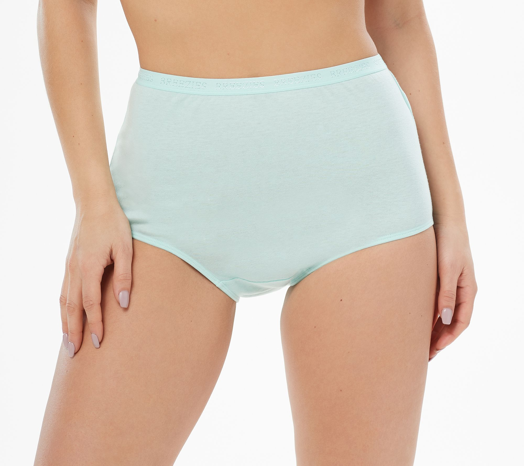 741290a27342 Breezies Set of 4 100% Cotton Full Brief Panties - Page 1 — QVC.com