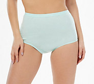 Breezies Set of 4 100Cotton Full Brief Panties - A301444