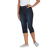 Susan Graver High Stretch Denim Pull-On Pedal Pushers - A303344
