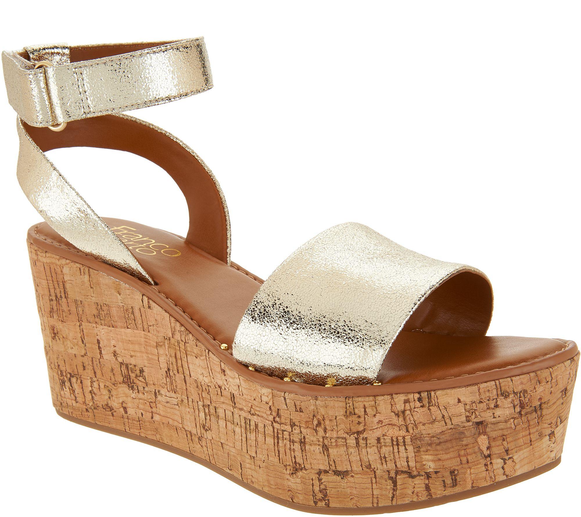 501d46792799 Franco Sarto Ankle Strap Wedges - Jovie - Page 1 — QVC.com