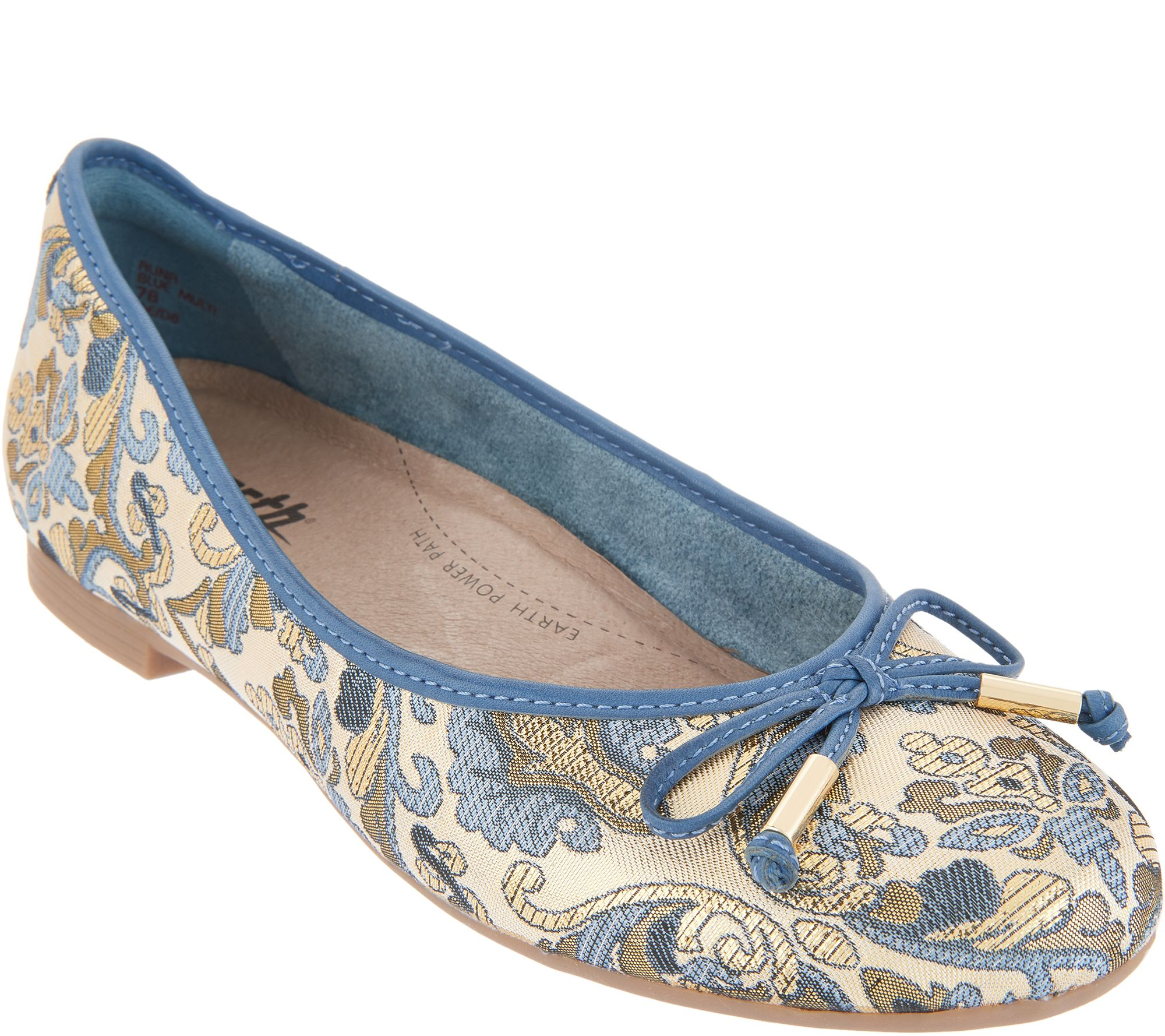 313ad211a0a8 Earth Slip-On Flats with Bow Detail - Alina - Page 1 — QVC.com