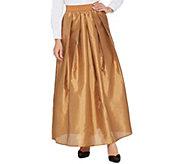 Joan Rivers Petite Length Faux Dupioni Maxi Skirt - A344544