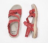 Earth Origins Suede Asymmetrical Sport Sandals - Hailey Holland - A350744