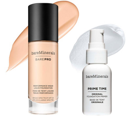 bareMinerals barePro Foundation & Prime Time Primer