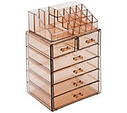Sorbus Acrylic Cosmetics Makeup & Jewelry Storage Case - A415244