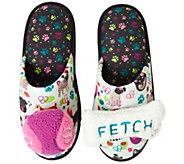 Dearfoams Womens Novelty Slippers with Detachable Bone Toys - A424144