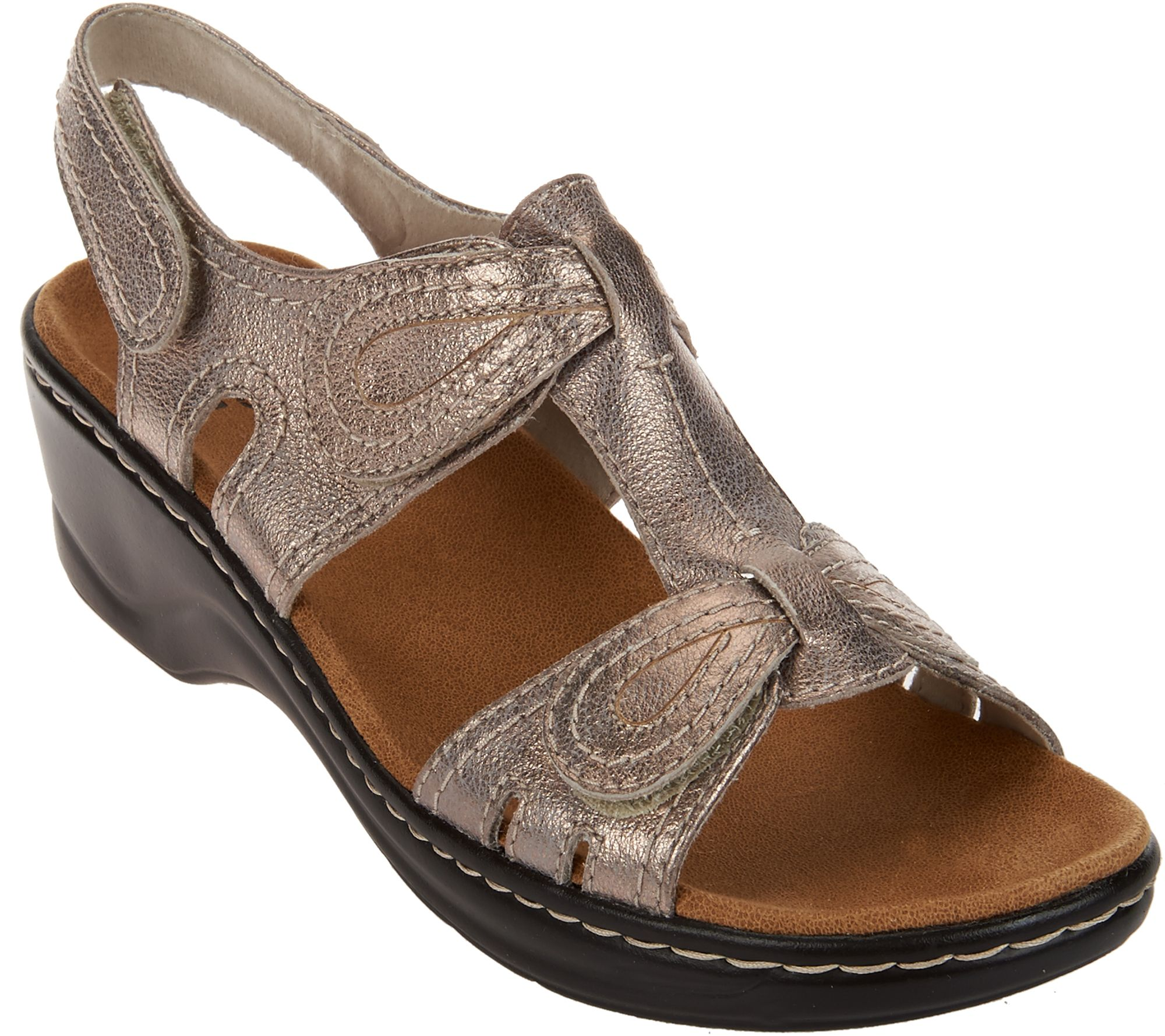 106163ddfae Clarks Leather Sandals w Adjustability - Lexi Walnut - Page 1 — QVC.com