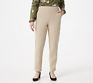 Bob Mackies Pull-On Ponte Knit Ankle Pants w/ Front Seam - A288445