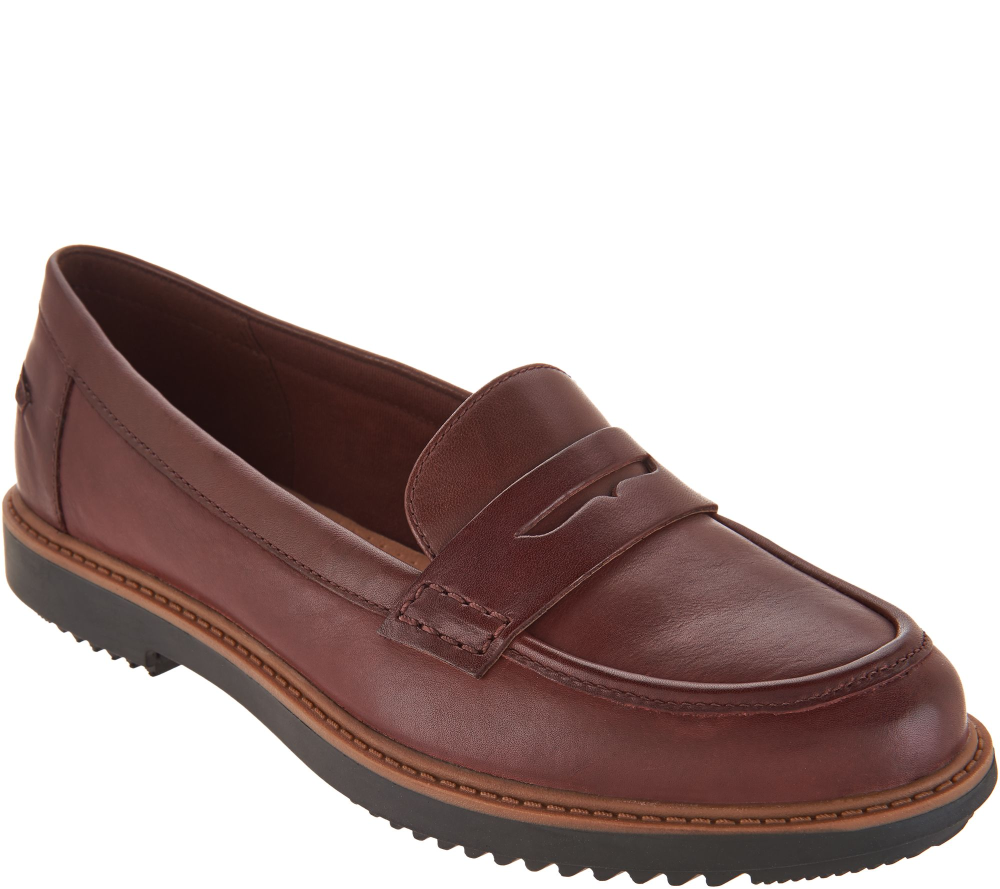 10c4fa25a22 Clarks Leather Slip-on Loafers - Raisie Eletta - Page 1 — QVC.com