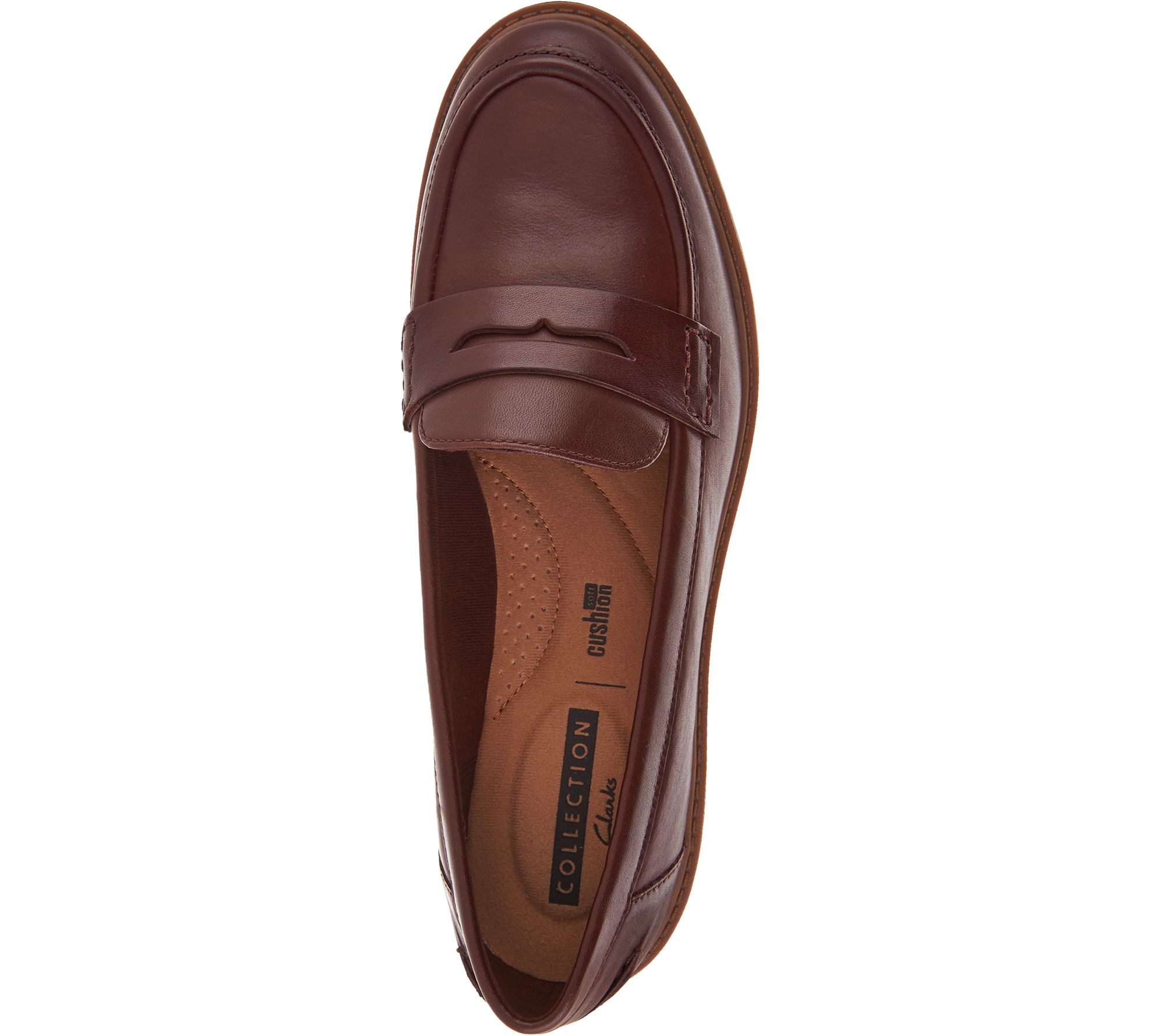 5c613dadb29 Clarks Leather Slip-on Loafers - Raisie Eletta - Page 1 — QVC.com