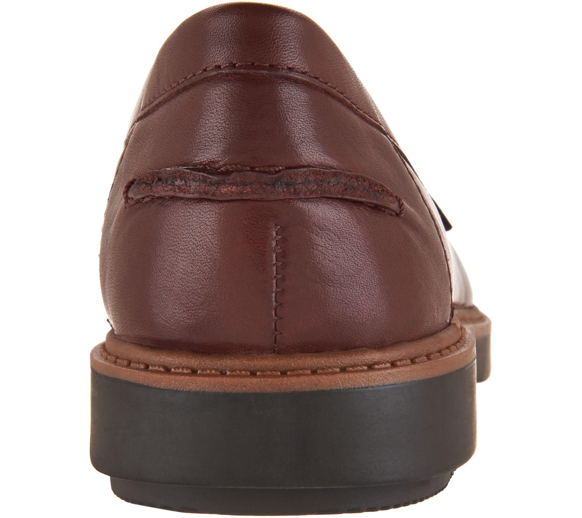 60e08caf30e Clarks Leather Slip-on Loafers - Raisie Eletta - Page 1 — QVC.com