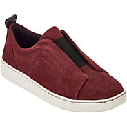 Earth Suede Slip-ons with Goring - Zetta - A296245