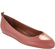 ED Ellen DeGeneres Leather Heart Ballet Flats - Lyssa - A303445