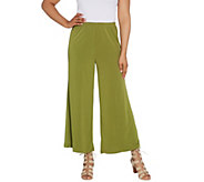 Joan Rivers Regular Pull-On Jersey Knit Palazzo Pants - A303845
