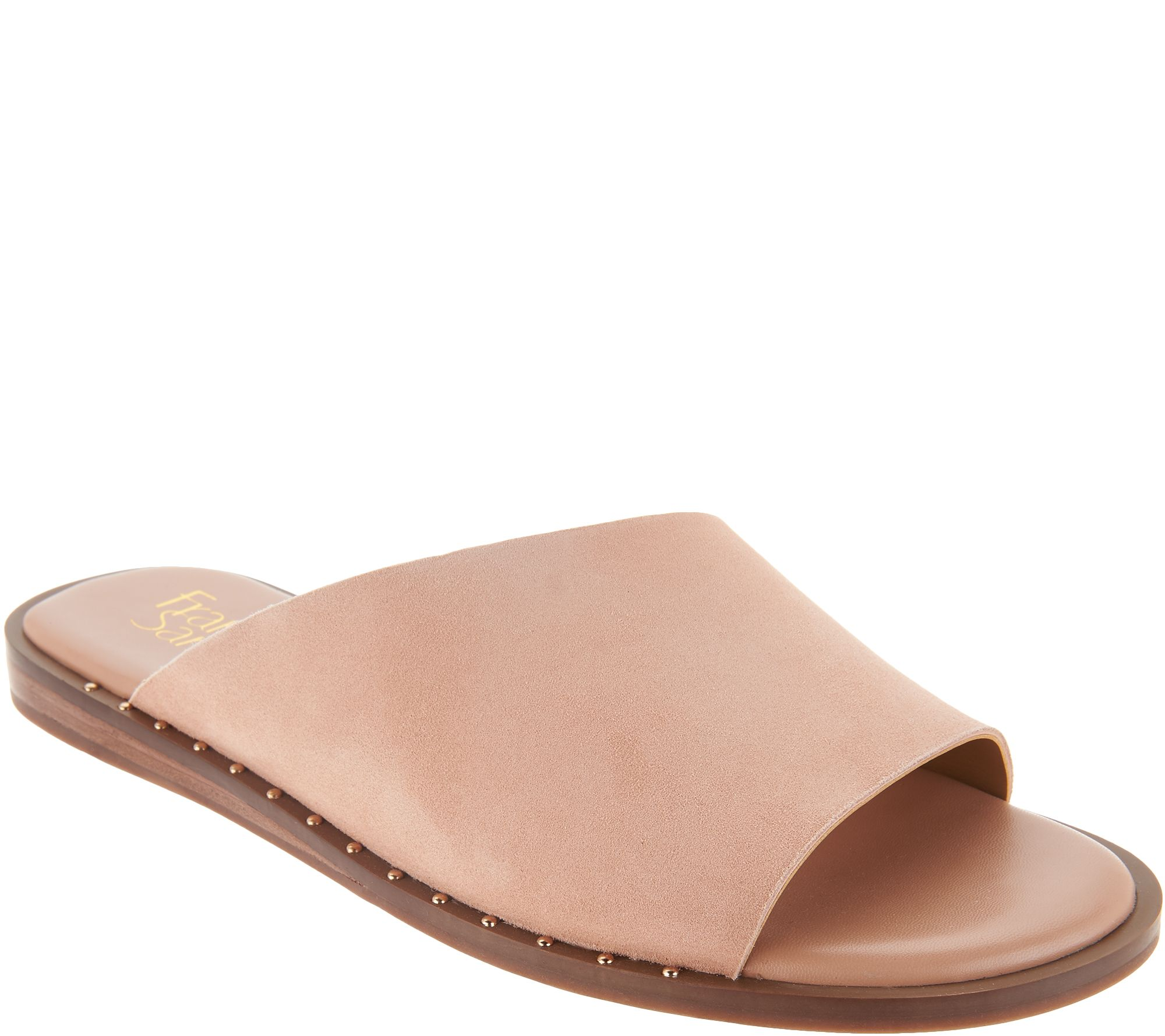 7c55dd0cbe1c Franco Sarto Leather Slide Sandals - Rye - Page 1 — QVC.com