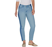 Martha Stewart Regular 5-Pocket Ankle Jeans w/ Tuxedo Stripe - A307745