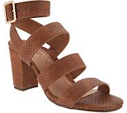 Vionic Suede Block Heel Sandals - Blaire - A309045