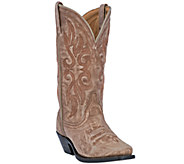 Laredo Leather Cowboy Boots with Crackle Finish- Maricopa - A335445