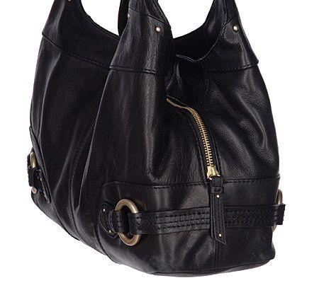 Sigrid Olsen Leather Venice Hobo Bag - Page 1 — QVC.com 02b0af44e8ec1