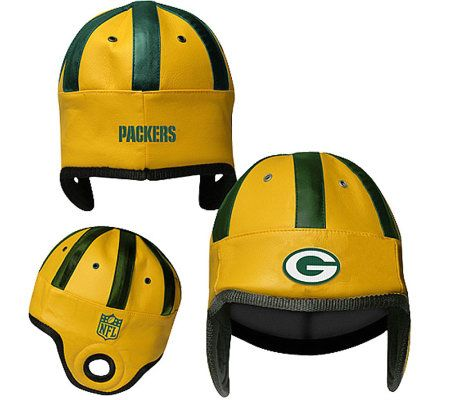1be0a9aac1e NFL Green Bay Packers Faux Leather Helmet Head — QVC.com