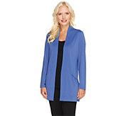 Susan Graver Premier Knit Open Front Cardigan w/ Front Pockets - A260346