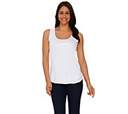 Kelly by Clinton Kelly Printed Sequin Knit Tank - A276346