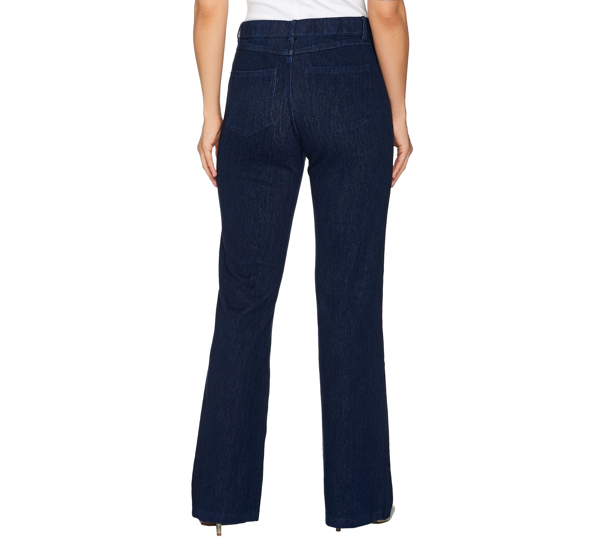 0aff59b5e40 Isaac Mizrahi Live! Regular Knit Denim Flared Jeans w  Patch Pockets - Page  1 — QVC.com