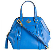 As Is orYANY Pebble Leather Satchel - Anabelle - A280246