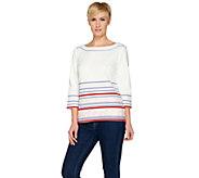 C. Wonder French Terry Border Print 3/4 Sleeve Sweatshirt - A286546