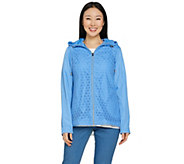 C. Wonder Water Resistant Packable Lace Jacket with Hood - A286646